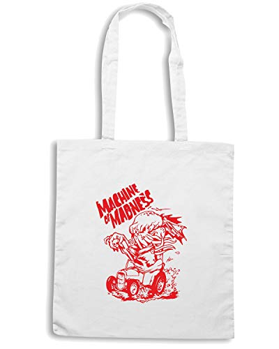 Speed Bianca MADNESS MACHINE TB0047 OF Shopper Shirt Borsa H1nqwFpHr