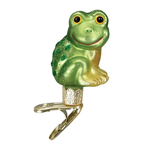 (Old World Christmas Ornaments: Happy Froggy Glass Blown Ornaments for Christmas Tree)