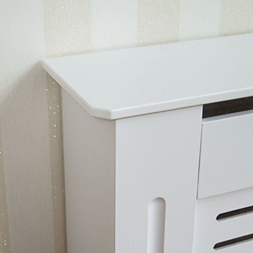 Home Discount Milton Radiator Cover White Modern Painted