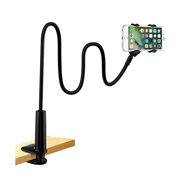 Soporte para teléfono móvil, lonzoth Teléfono Móvil Soporte Cuello de Cisne Soporte Universal Soporte para iPhone… 2