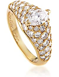 Cartier 18K Yellow Gold .60ct Marquise Diamond Engagement Ring