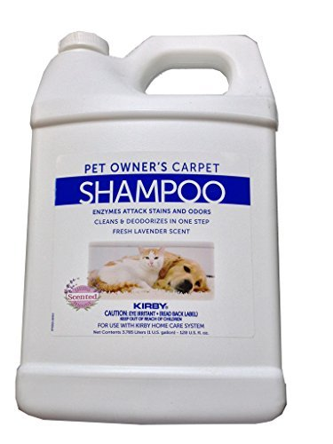1 Gallon Genuine Kirby Pet Owners Shampoo. Use with all model Kirby Vacuum Cleaner Shampooer Systems. (Best Carpet Cleaner For Pet Owners)