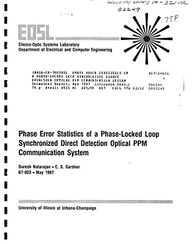 Phase error statistics of a phase-locked loop synchronized direct detection optical PPM communication system