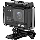 SJCAM SJ8 Plus Action Camera, 4k/30fps 12mp Sports Cam with Sony Sensor, EIS, 170°Wide-angle Lens, 2.33 Touchscreen, 1200mAH Battery for Underwater, Outdoor Activity (Waterproof Case Included)