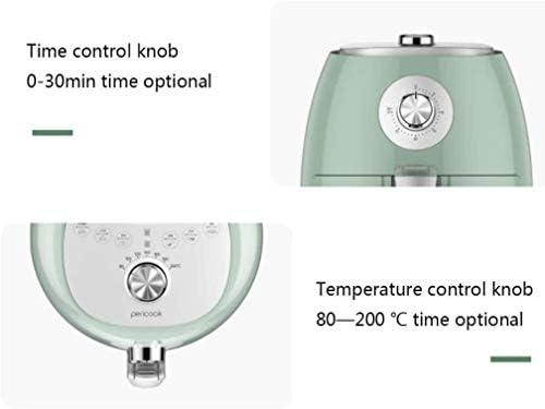 WZLJW Air Friteuse, 2,5 Liter Fassungsvermögen ölfreie Luft intelligente Friteuse, Knopfbedienung Kochen, leicht zu reinigen, grün ggsm