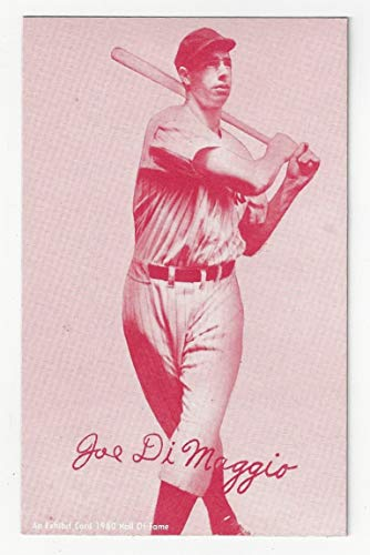 Joe DiMaggio Exhibit Postcard Sized Collectible Baseball Card - 1980 Hall of Fame Collectible Baseball (New York Yankees) Free Shipping from Hall of Fame Collectible