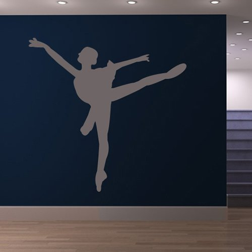 Ballet Dancing In Tutu Ballerina Dancing Wall Stickers Sports Decor Art Decals available in 5 Sizes and 25 colors X-Large Moss Green