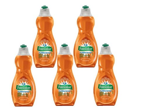 Palmolive Ultra Antibacterial Orange Dish Washing Liquid-10 oz (Quantity of 5)