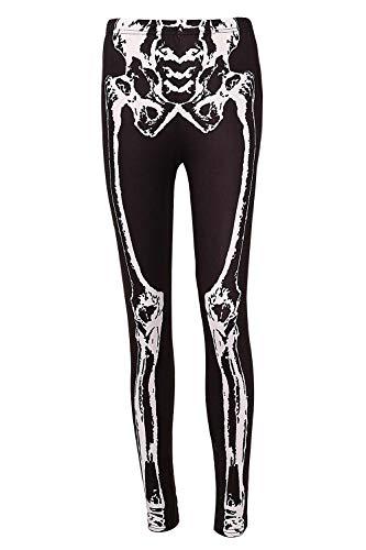 DREAGAL Skeleton Halloween Costume Leggings - Skeleton Tights for Women S]()