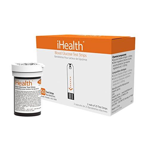 iHealth AGS-1000I Blood Glucose Test Strips (nombre de 50)