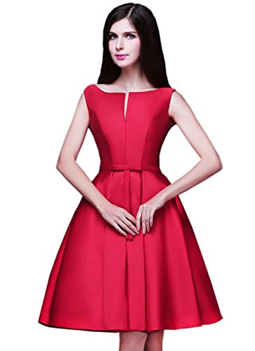 LD DRESS Women's Bridesmaid A-line Evening Gown Party Dress (XS, Red) ()