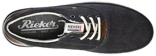 Rieker Herren 19650 Low-Top Grau (anthrazit/kastanie / 45)