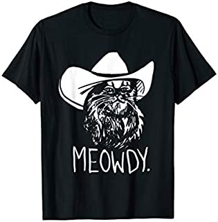 Meowdy Texas Cat Meme T-shirt | Size S - 5XL