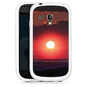 Silicona Carcasa blanco Funda para Samsung Galaxy S3 Mini - Burning Night
