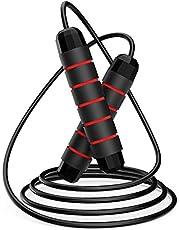 LOVEXIU Springtouw, springtouw, snelheidskabel, gewogen springtouw kabel voor oefening verstelbare lengte met schuimhandgrepen goed voor volwassenen, vrouwen, mannen, kinderen, kinderen thuis, outdoor & gym boksen fitness