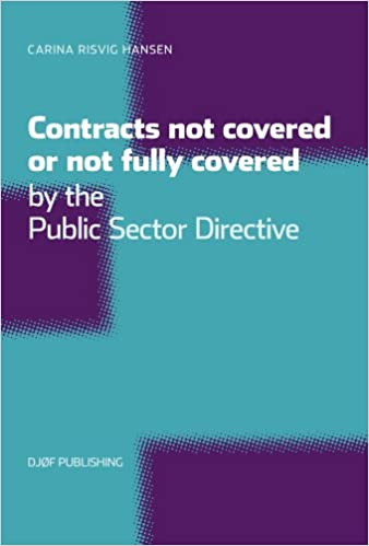 Book Contracts Not Covered, or Not Fully Covered, by the Public Sector Directive
