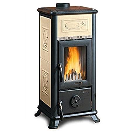 La Nordica Estufa de leña Dorella L8 Liberty revestimiento de loza Potencia térmica nominal 6,5 kW 186 M3 calefactables Color Pergamino: Amazon.es: ...
