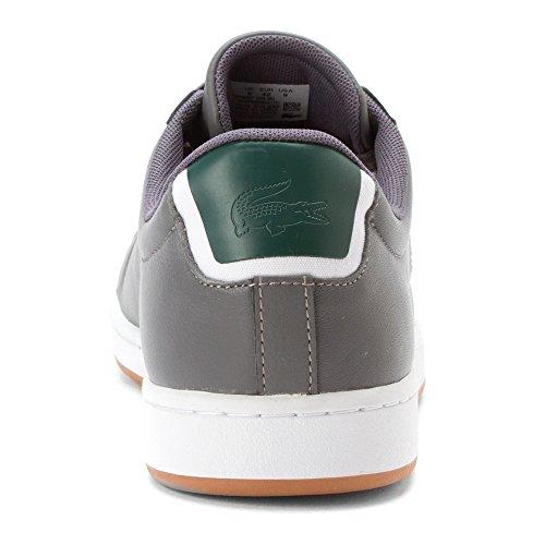 Lacoste Mens Carnaby Evo Rei Fashion Sneaker Dk Grigio / Dk Grigio