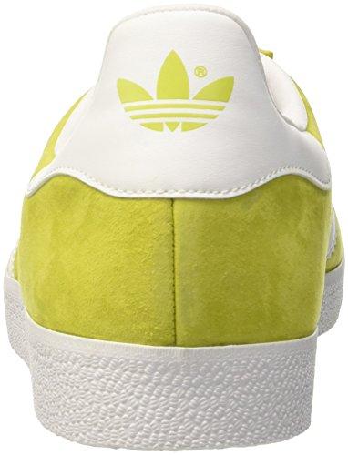 Giallo Adidas Unisex-adulto Gazzella Low-top (lunità Di Calce / Bianco / Oro Incontrato)