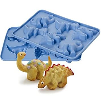 Silikon Kuchenform Dinosaurier 6 Lustige Dinosaurier Motive 3d