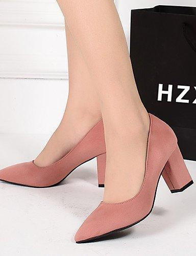 GGX/Damen Schuhe Suede Fall Heels/spitz Zehen/Clogs & Pantoletten Kleid Chunky Heel andere schwarz/pink/rot/grau gray-us7.5 / eu38 / uk5.5 / cn38