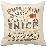 Pillowcase Decorative Throw Pillow Cover Cushion Pumpkin Spice Polyester Pillowcase 18 x 18 Inches
