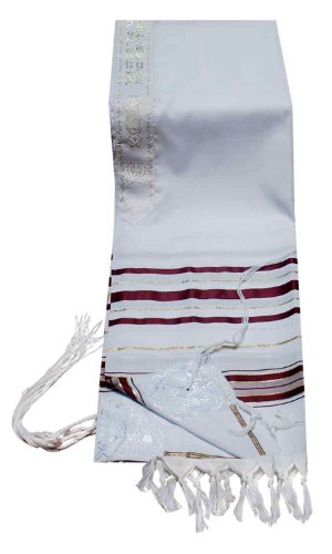 """Prayer Shawls Tallit In Size 24"""" L X 72"""" W In Green/Gold Or Maroon/Gold"""