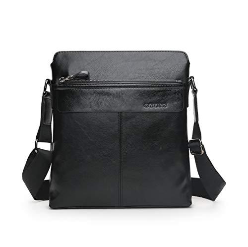 Vintage Bandoulière Bags Hommes Sac Grand Noir2 En Cuir Simple À Sacoche Handbag Multi Affaire usage Tablette Shoulder Mature Meceo xpqzOp
