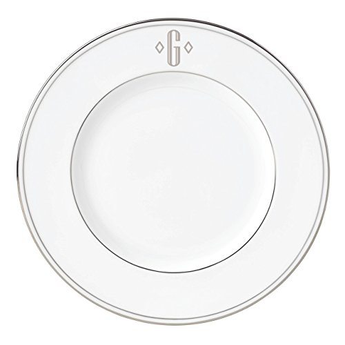 Lenox Federal Platinum Block Monogram Dinnerware Accent Plate, ()