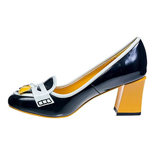 Zapatos De Tacón Banned Lust For Life (Negro/Amarillo) Negro
