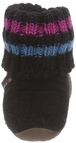 Haflinger Everest Pablo - Zapatillas de casa de lana niño negro - Schwarz (3 schwarz)