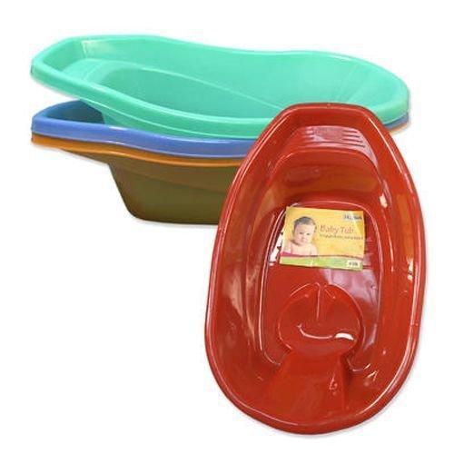 Baby Bath Tub 26.75 Inches Long 3 Pieces Assorted 40 pcs sku# 919666MA by DDI