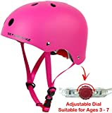 Toys : Kids Bike Helmet - Adjustable from Toddler to Youth for Boys and Girls Ages 3 to 7 - Multi-Sport for Bike Skateboard Cycling Skate Scooter Roller Bicycle - Certified for Safety and Comfort (Pink)