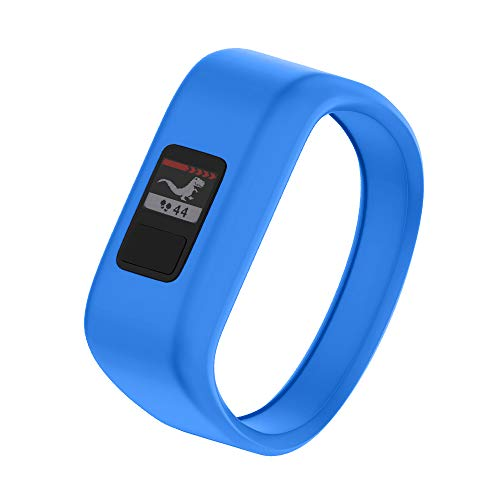 NotoCity Compatible with Garmin Vivofit JR/JR 2/3 Bands,Soft Silicone Replacement Watch Bands for Boy Girls Kids(Blue, Small)