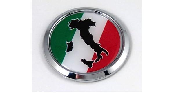USA Italy American Italian Flag Car Chrome Emblem Decal Sticker with adhesive