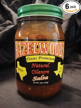 Hazelwoods Salsa 16 Oz (Pack of 6) (Natural Cilantro - Medium)