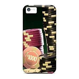 Excellent Iphone 5c Case Tpu Cover Back Skin Protector Casino Poker Chips 3