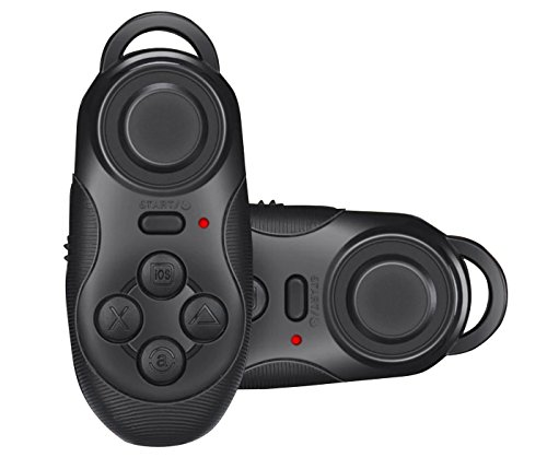 C-Zone-VR-BOX-Remote-Controller-Wireless-Bluetooth-Gamepad-Compatible-with-3D-VR-Glasses-Google-Cardboard-Selfie-Camera-Shutter-Wireless-Mouse-Music-Player-iPhone-iPad-Ebook-Tablet-PC-TV-Black