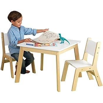 Amazon Com Kidkraft Round Storage Table Amp 2 Chair Set