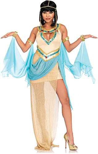 Sexy Cleopatra Dress (Leg Avenue Women's 3 Pc Sexy Cleopatra Costume, Gold, MED/LGE)