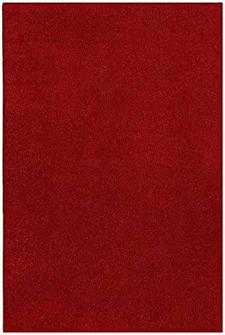 New Shag Collection Solid Color Red 12'x12'