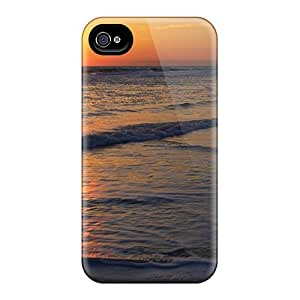 New Fashionable Cynthaskey JaYuNJG4778KTlXT Cover Case Specially Made For Iphone 4/4s(sunrise Waves)