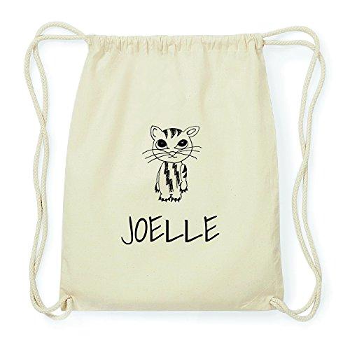 JOllipets JOELLE Hipster Turnbeutel Tasche Rucksack aus Baumwolle Design: Katze kxpfaEE4Ni