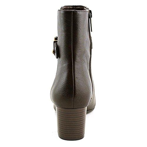 Bandolino Womens Lorillard Vierkante Teen Lederen Fashion Laarzen, Zwart, Maat 5