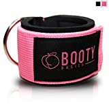 Booty Basics Ankle Strap for Cable Machines (Pink) (Color: Pink)