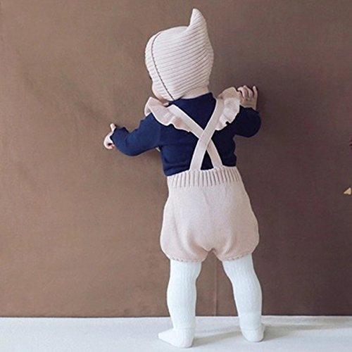 Chulianyouhuo Baby Girls Knitted Ruffle Cute Romper Cross Bandage Jumpsuit Bodysuit by Chulianyouhuo (Image #1)