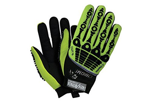 4026 Series - HexArmor 4026-8 Size 8 Hi-Viz Green/Black Chrome Series Clute Cut Super Fabric/Synthetic Leather Reusable Cut Resistant Gloves with Elastic Cuff, English, 15.34 fl. oz, Plastic, 1 x 7.5 x 4