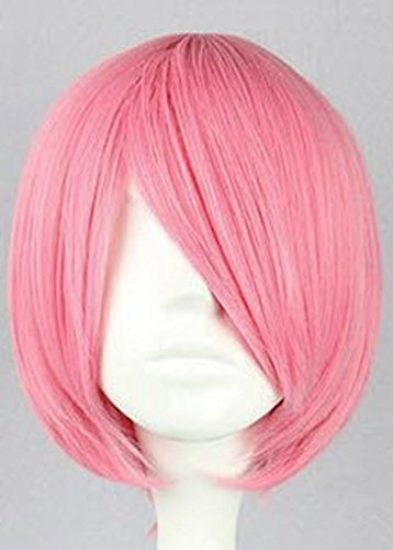 SMILE 35cm ShortHitman Reborn Gatling Short Pink short cosplay wig