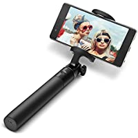 Bluetooth Selfie Stick, BlitzWolf Built-in Remote Pocket-Size 270 Degree Rotation Wireless Extendable Monopod Shutter Self-Portrait Adjustable Phone Holder iOS and Android(Black)