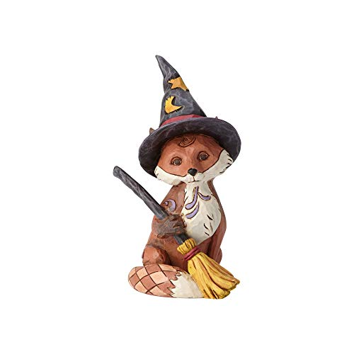 Enesco Jim Shore 6001552 Mini Fox in Witch's Hat, Multicolor